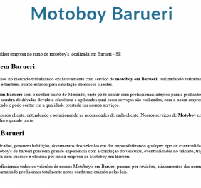 Motoboy em Barueri