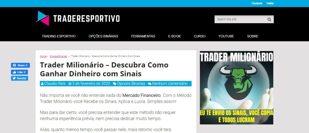 método trader milionário download