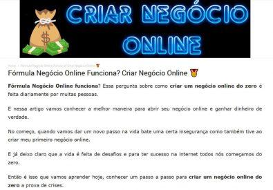 Criar Negócio Online